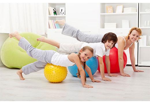 домашние упражнения на мяче