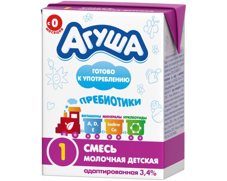 Кисломолочные и молочные смеси Агуша для новорожденных и детей от 6 месяцев: состав, ассортимент