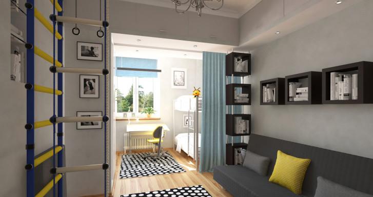 Дизайн детской комнаты, совмещенной с гостиной: варианты оформления интерьера и полезные советы