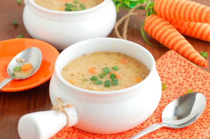 овощной овсяный суп