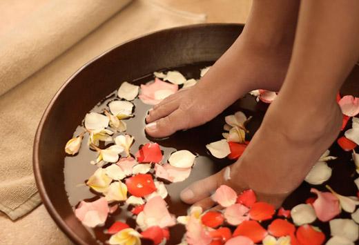 ванночки с травами для ног
