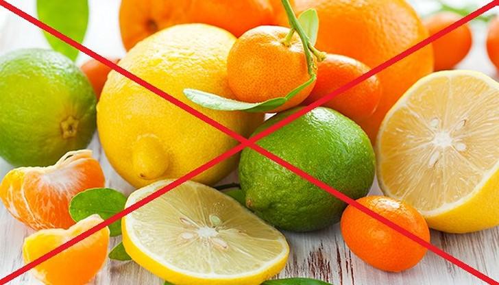 Употребление цитрусовых на время болезни необходимо ограничить