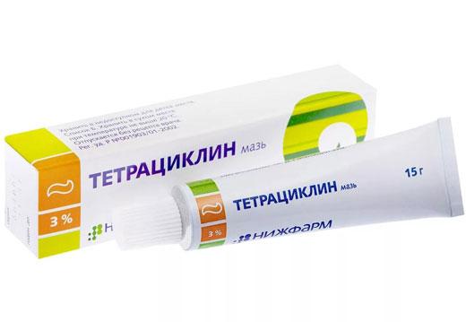 мазь Тетралицин