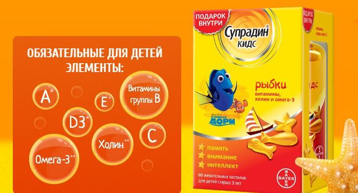 Супрадин Кидс для детей: инструкция по применению витаминов разных форм (гель, Рыбки, Мишки и Юниор)