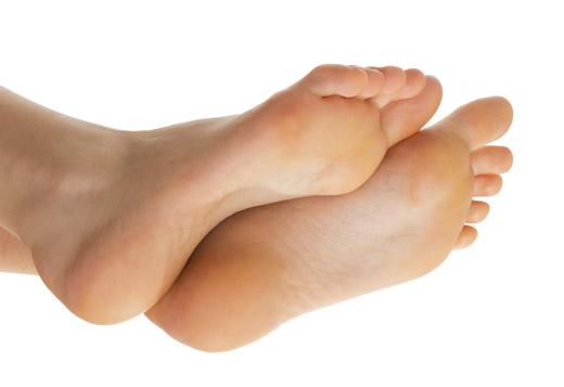 чистая кожа ступней