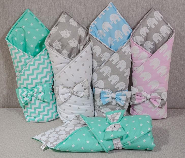 Плед-конверт для новорожденного должен быть не только красивым, но и максимально комфортным